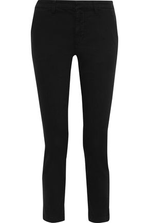 J BRAND Clara cropped cotton-blend twill slim-leg pants
