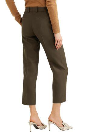 VICTORIA BECKHAM Cropped woven straight-leg pants