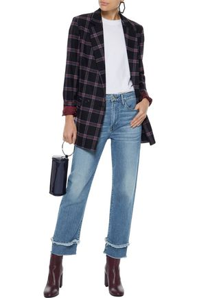 3x1 Petal Higher Ground frayed mid-rise straight-leg jeans