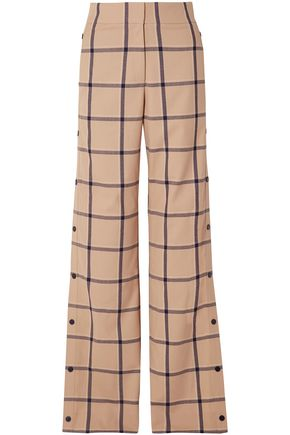 MONSE Checked woven wide-leg pants