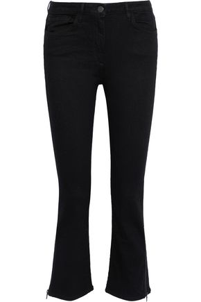 3x1 Zip-detailed mid-rise kick-flare jeans