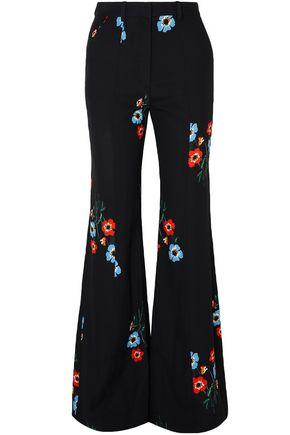 SONIA RYKIEL Floral-print crepe flared pants
