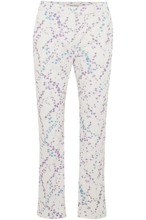 MAX MARA Badess floral-print stretch-cotton twill straight-leg pants
