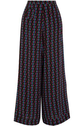 ETRO Printed silk-chiffon wide-leg pants