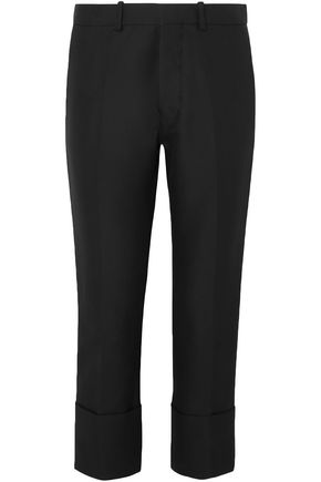 MARNI Cropped cotton slim-leg pants