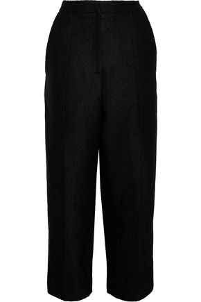 CAROLINA HERRERA Linen-blend bouclé wide-leg pants