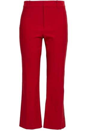 DEREK LAM 10 CROSBY Cropped cotton-blend twill flared pants