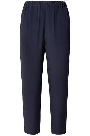 MARNI Cropped crepe de chine straight-leg pants