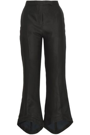 ANTONIO BERARDI Silk and cotton-blend flared pants