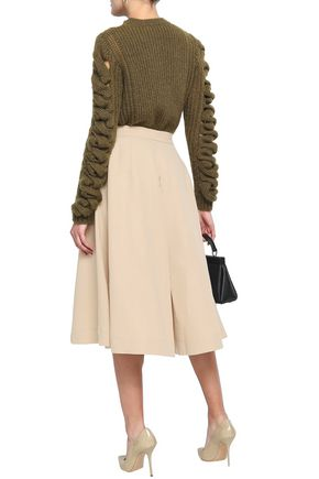 CO Cotton and linen-blend twill culottes
