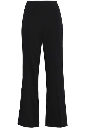 ROLAND MOURET Metallic-trimmed woven flared pants