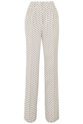 ETRO Printed silk straight-leg pants