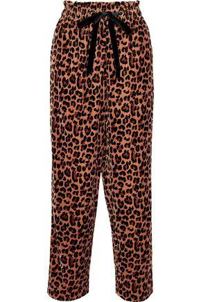 ANTIK BATIK Gart leopard-print velvet straight-leg pants