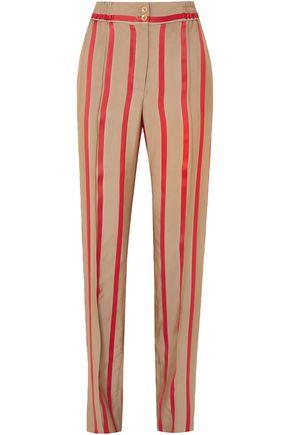 ETRO Striped satin-twill straight-leg pants