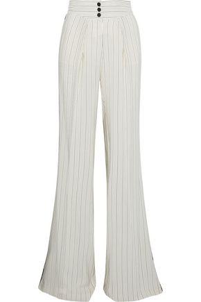 ROBERTO CAVALLI Silk-blend jacquard flared pants