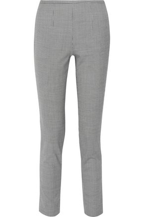 MICHAEL KORS COLLECTION Houndstooth wool-blend slim-leg pants