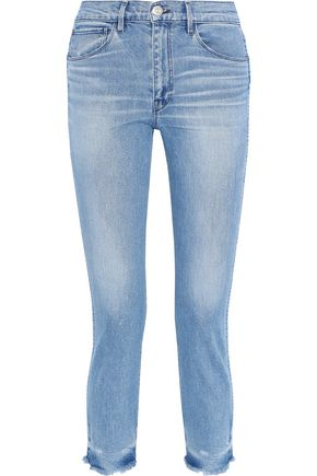3x1 W3 Straight Authentic Crop high-rise slim-leg jeans