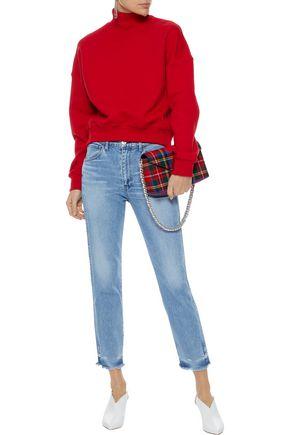 3x1 W3 Straight Authentic Crop high-rise slim-leg jeans