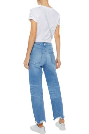 3x1 Higher Ground distressed high-rise straight-leg jeans