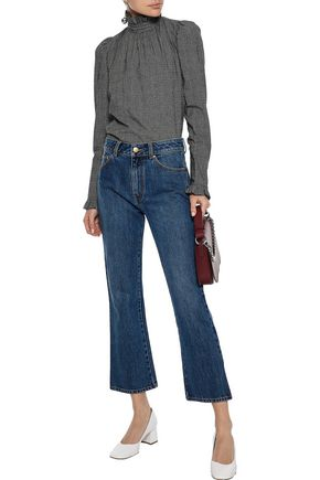 CO Cropped mid-rise kick-flare jeans