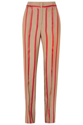 ETRO Striped woven tapered pants