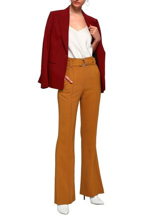 A.L.C. Foster belted stretch-crepe bootcut pants