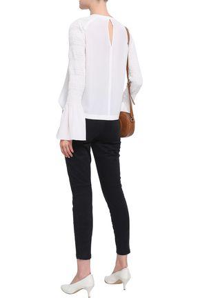 A.L.C. Ezra zip-detailed stretch-cotton twill skinny pants