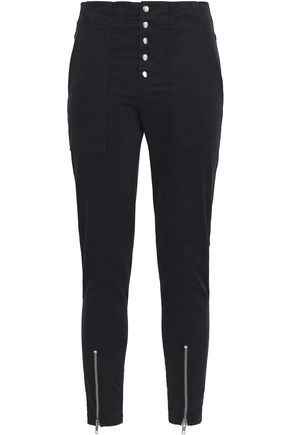 A.L.C. Ezra zip-detailed stretch-cotton twill skinny pants