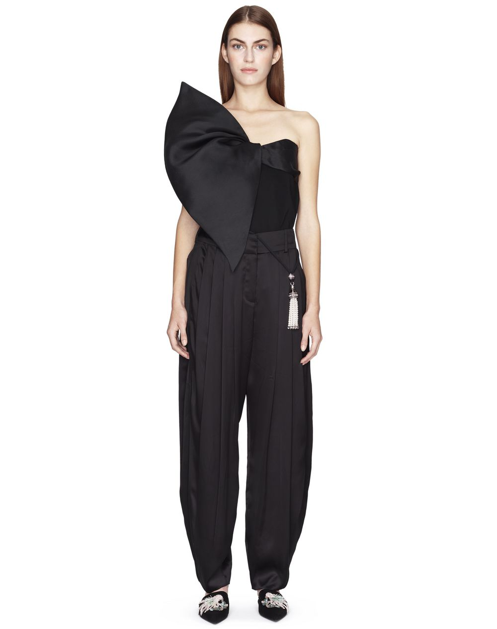 SATIN SAROUEL TROUSERS - Lanvin