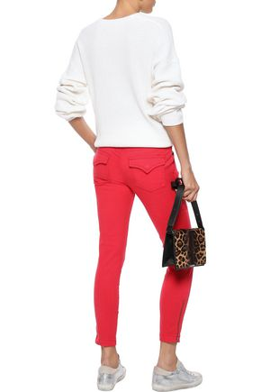 JOIE Park moto-style cropped low-rise skinny jeans
