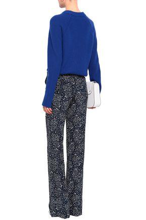 STELLA McCARTNEY Printed silk crepe de chine straight-leg pants