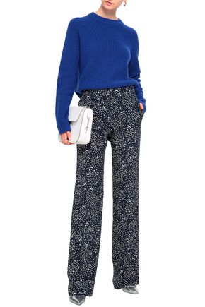 4ae216c849945 STELLA McCARTNEY Printed silk crepe de chine straight-leg pants