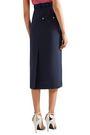 CALVIN KLEIN 205W39NYC Two-tone woven midi pencil skirt
