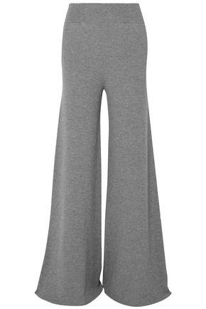 STELLA McCARTNEY Ribbed-knit wool wide-leg trousers