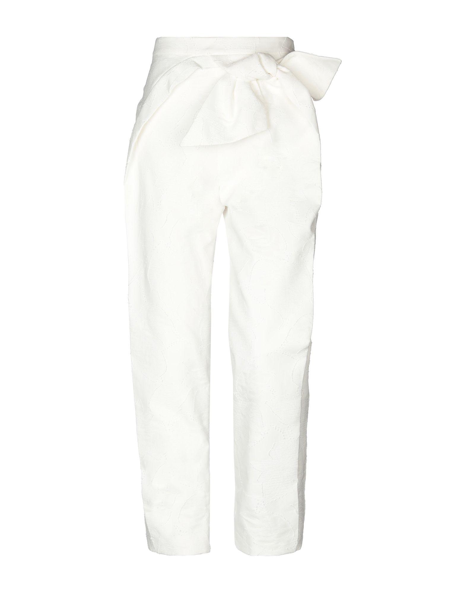 《送料無料》DELPOZO レディース パンツ ホワイト 40 コットン 100%