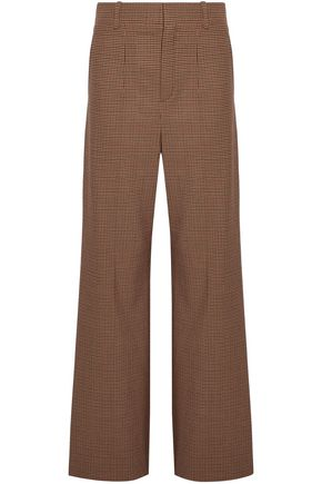 CHLOÉ Houndstooth woven wide-leg pants