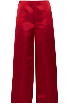 THE ROW Silk-duchesse satin wide-leg pants