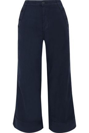 JOIE Adolphine cotton-blend twill culottes