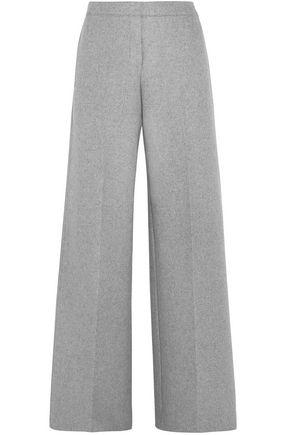 ALEXANDER MCQUEEN Cashmere-felt wide-leg pants
