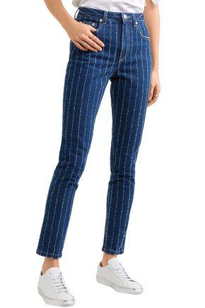 MSGM Jacquard mid-rise slim-leg jeans