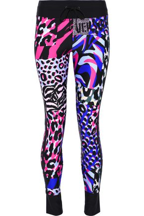 VERSACE Printed stretch leggings