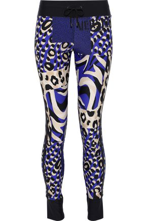 VERSACE Embossed printed stretch leggings