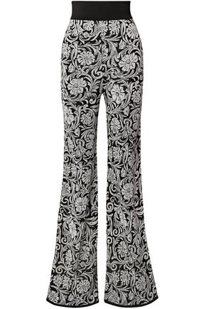 BALMAIN Jacquard-knit flared pants