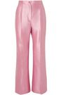 DOLCE & GABBANA Striped cotton-blend satin-twill flared pants