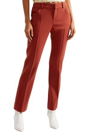 CHLOÉ Wool-blend twill straight-leg pants