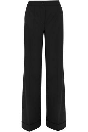 DOLCE & GABBANA Wool-blend woven wide-leg pants