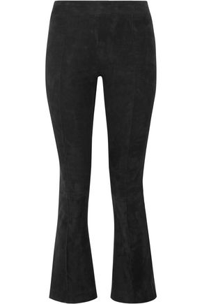 THE ROW Stretch-leather bootcut pants