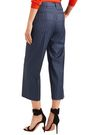 VERSACE Cropped pinstriped wool-twill straight-leg pants