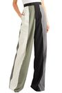 RICK OWENS Lido color-block cotton-crepe wide-leg pants