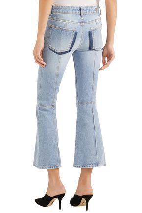 ALEXANDER MCQUEEN Mid-rise kick-flare jeans
